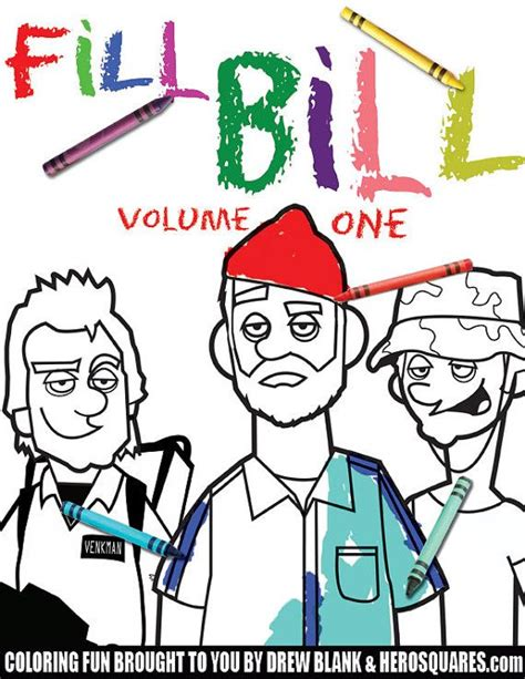 bill murray coloring book fill bill volume one bill murray coloring book