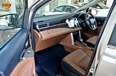 modified toyota innova crysta interior in images indian