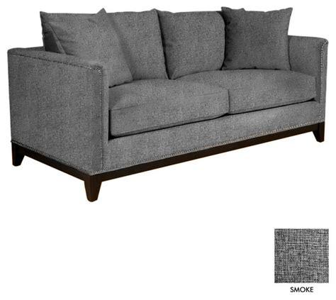 studded sectional sofa la brea studded apt size sofa smoke 72 quot w x 39 quot d x 31 quot h