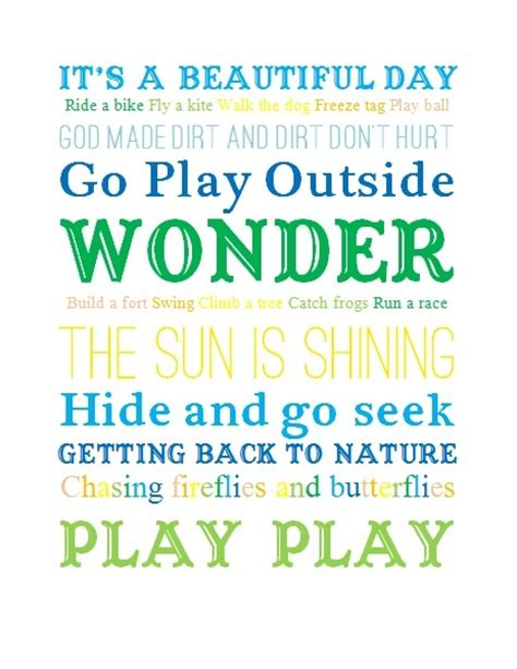 printable summer quotes free printable quot go play outside quot subway art perfect for