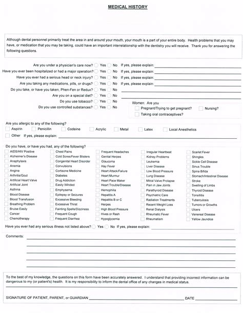 Best Photos Of Dental Office Forms Printable Printable Hipaa Forms For Dental Office Patient Dental Office Forms Templates