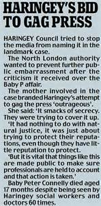Anonymous Letter Service Uk Parents Social Service Hell After One Anonymous Letter Judge Attacks Baby P Council For Knee
