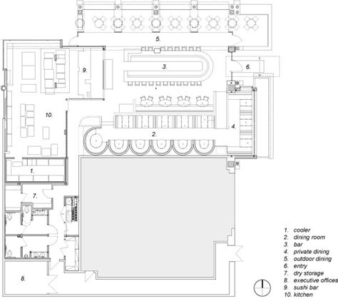 dinner opensquare layout cafe r d prototype restaurant by loha floor plan