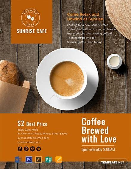 cafe flyer template word  psd apple mac