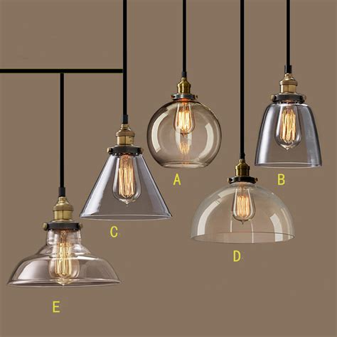 Nordic Vintage Glasspendant L American Country Kitchen Industrial Light Fixtures For Kitchen