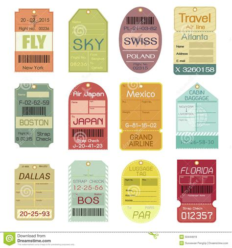 free printable airline luggage tags vintage luggage tags printable clipart