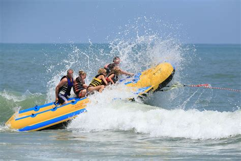 banana boat ride hollywood beach a guide to myrtle beach south carolina westjet magazine