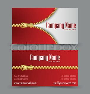 theme company names zipper theme business card vector colourbox