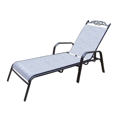aluminum chaise lounge shop oakland living cascade sling black aluminum patio