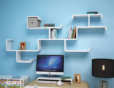 wall shelf for computer modular branch decorative wall shelving expand