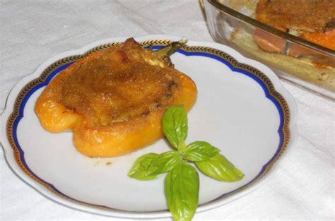 come cucinare zucchine e melanzane peperoni ripieni con melanzane zucchine e ricotta salata