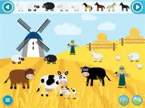 Farmyard make a scene educational sticker apps for children ios