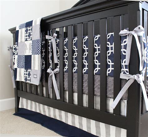 Navy Blue And Gray Bedding by Custom Crib Bedding Navy Blue And Grey Elephant Baby Bedding