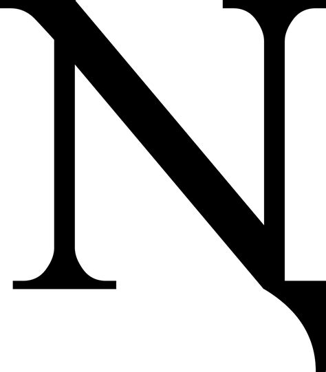 Letter N n with descender