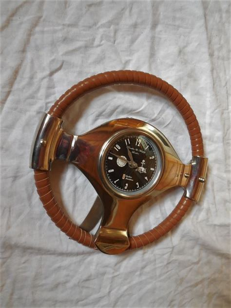 old boat steering wheel old boat wheel steering wheel leather wrapping with chrome