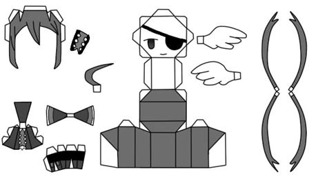 Black And White Papercraft - papercraft alela grora the gray garden by