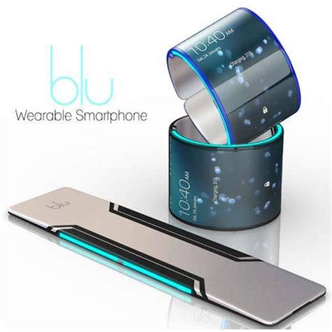 smart gadgets blu wearable smartphone looks like a smart wristband