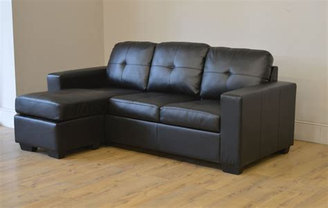 clearance black leather corner sofa bed t1746