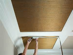 English Cottage Decorating How To Install Grasscloth On A Coffered Ceiling Hgtv