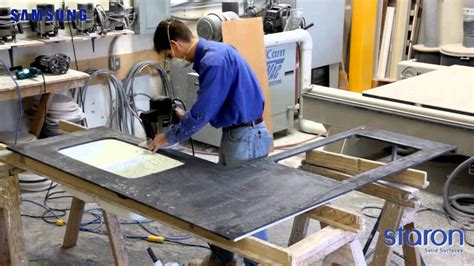 Corian Manufacturing Process samsung staron entire process