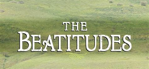 Commentary on the beatitudes
