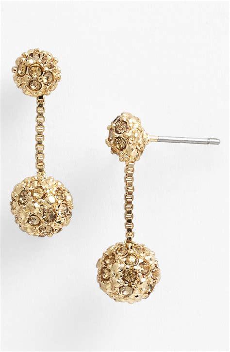 klein fireball drop earrings in gold topaz gold lyst