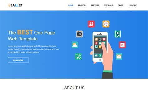 One Page Free Website Template By Webthemez Free One Page Web Page Templates