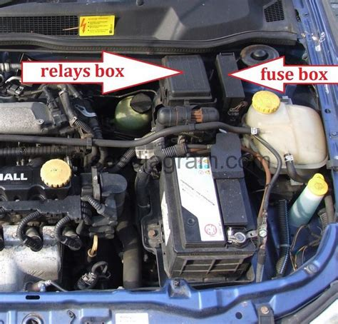 fuse  relay box diagram opelvauxhall astra
