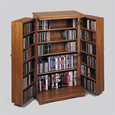 Mission Style Cd Cabinet by Leslie Dame Mission Style Multimedia Cabinet Oak Cd 612oak