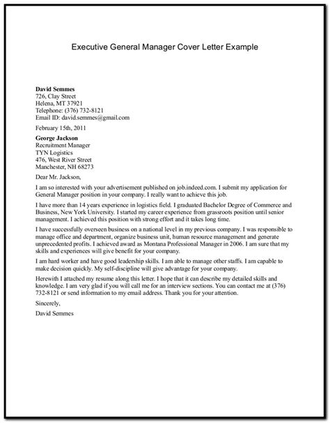 general cover letter exles for resume sle of cover letter for a resume in general cover