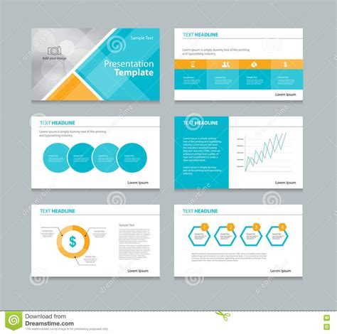 layout design in vector page presentation layout design template stock vector