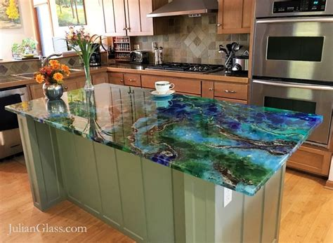 Glass Cement Countertops by 25 Best Ideas About Glass Countertops On