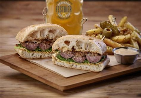 bratwurst sandwich gordon biersch celebrates oktoberfest with festbier