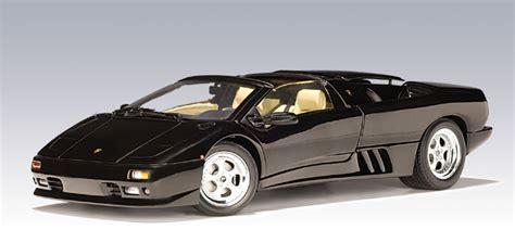 Lamborghini Diablo Black Autoart Lamborghini Diablo Roadster Black 70093 In 1