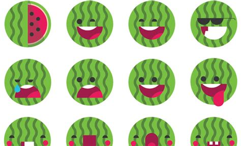 watermelon emoji 38 amazingly well designed emoji iconsets