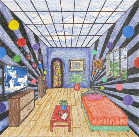 Gogh Bedroom Perspective Lesson 66 Best One Point Perspective Images On 1