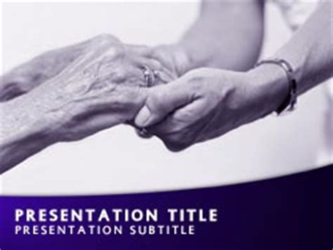 Royalty Free Nursing Home Powerpoint Template In Purple Free Nursing Powerpoint Templates