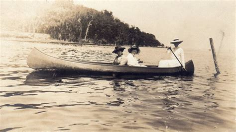 canoes in the 1800s vintage photograph circa 1800s ladies canoeing outdoor