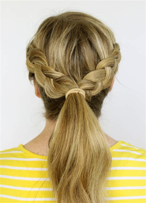 two braids goung into a ponytail natural hair 5 must try 5 minute rainy day hairstyles lifestyle