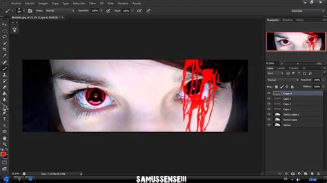 tutorial photoshop cc 2014 youtube blood sharingan naruto photoshop cc tutorial youtube