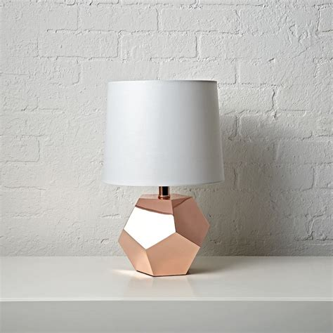 geometric rose gold table lamp the land of nod