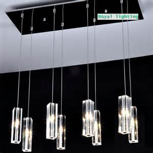 Hanging Dining Room Lights by Large Dining Room Led Crystal Pendant Lamps 8 Lights Big