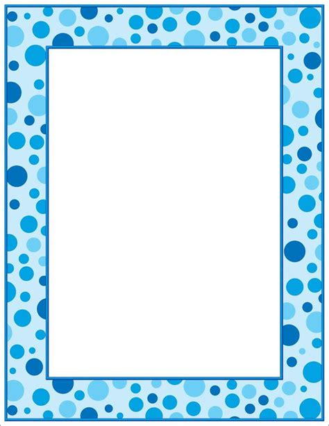 dot pattern border 8 best images of polka dots printable baby borders blue