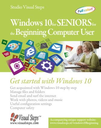 windows 10 for seniors books windows 10 for seniors for the beginning computer user