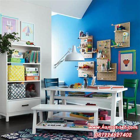 Meja Belajar Set set meja belajar anak balita with rak buku kamar set kamar set