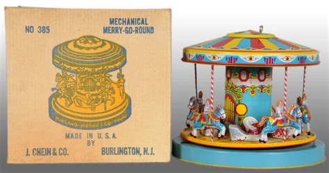 Wind It Up It Go tin litho chein merry go wind up