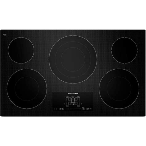smoothtop electric cooktop kitchenaid 36 inch smoothtop electric cooktop black rc