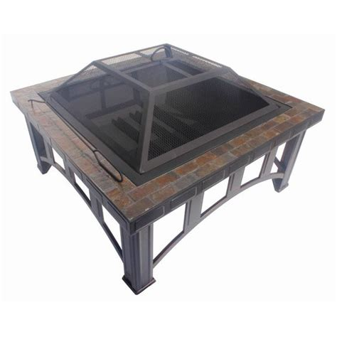 pits at lowes garden treasures 30 in w rubbed bronze steel wood burning