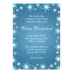 Winter Invitation Template by Winter Prom Invitations 5 Quot X 7 Quot Invitation Card