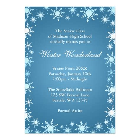 winter invitation template invitations templates